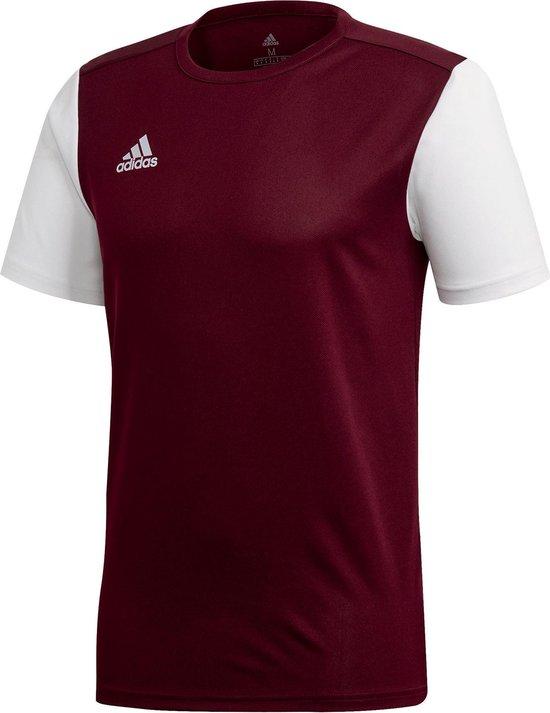 adidas Estro 19 Sportshirt - Maat 164 - Jongens - bordeaux rood/wit