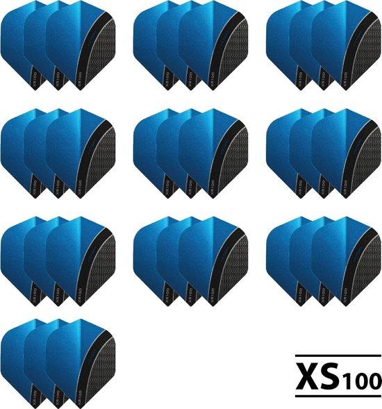 10 - Sets XS100 Curve 100 micron flights - Aqua
