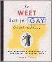 JE WEET DAT JE GAY BENT ALS?