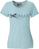 T-shirt dames - badman hunter - blauw - mt XL