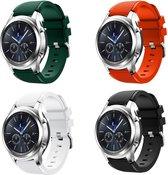 Silicone bandje geschikt voor Samsung Gear S3 & Galaxy Watch 46mm 4-pack