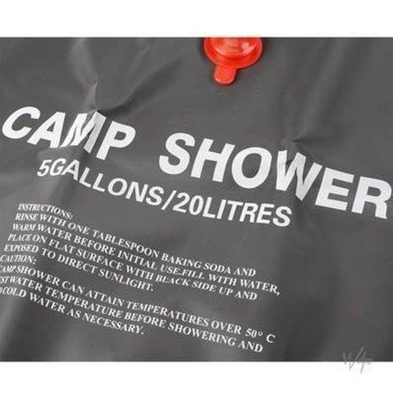 Mobiele Solar Camping Douche Zak - Kampeer Buiten Douche / Camp Shower - 20 Liter