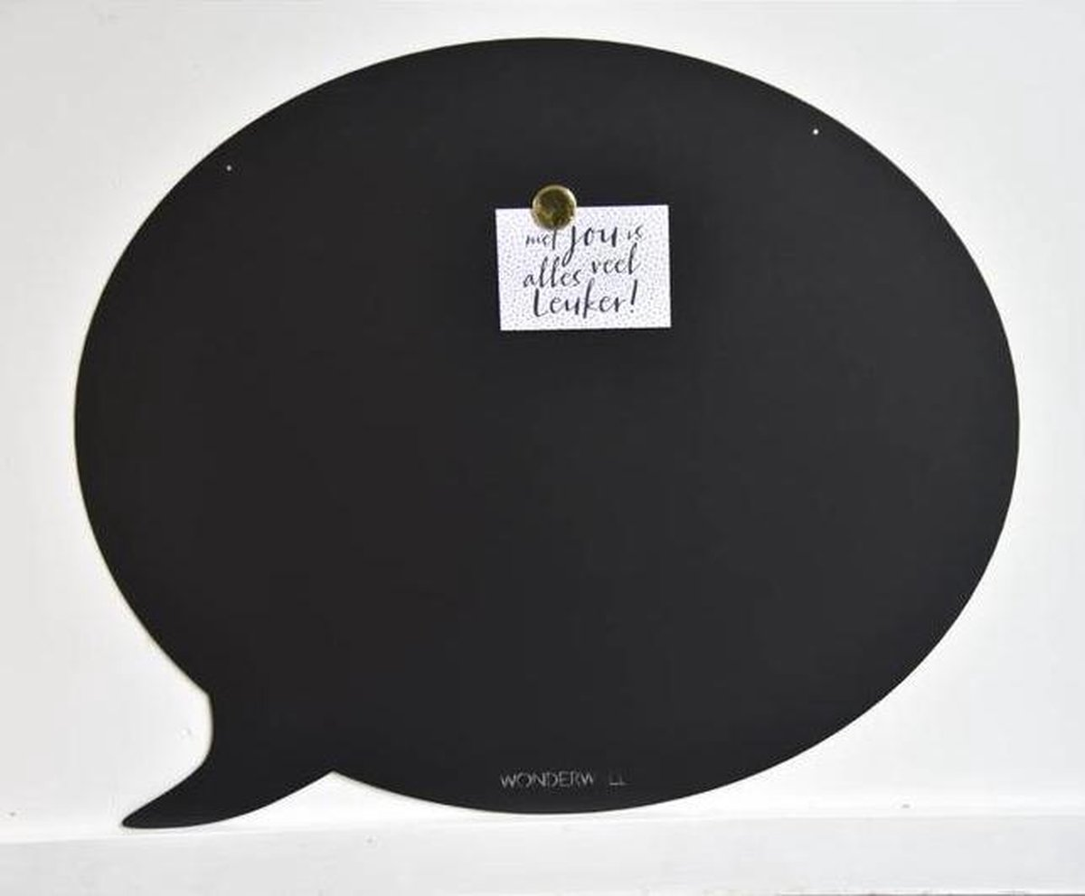 Wonderwall Magneetbord Memobord Tekstballon zwart metaal 50 x 60 cm online kopen