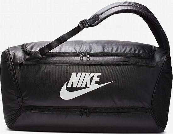 Nike BRSLA Duff Rugzak - Unisex - Zwart/ Wit