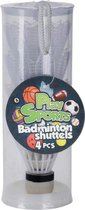 Free And Easy Badmintonshuttles 4 Stuks Wit