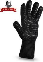 Hittebestendige BBQ & Oven Handschoen Anti Slip - Dubbel Gevoerd - Extra Lang Voor Armbescherming - 1 handschoen