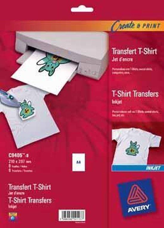 Afbeelding van Transferfolie Avery t-shirt - A4 transp. doos 8 vel