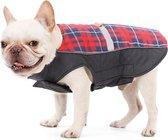 Warm jasje schotse ruit met reflecterende band voor honden - EXTRA SMALL (XS) - voor kleine hondjes
