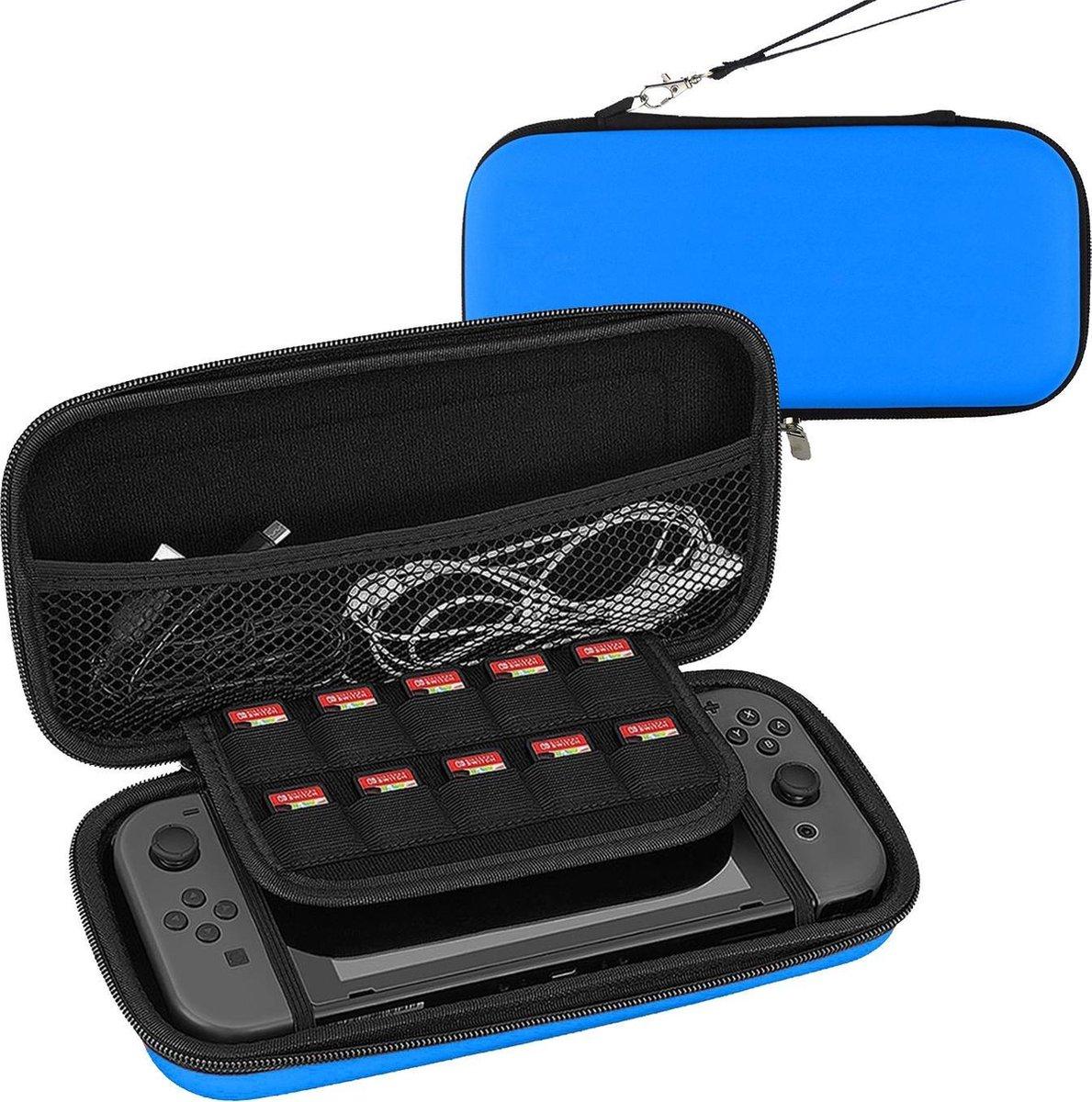 Hoesje Geschikt voor Nintendo Switch Lite Case Hoes Hard Cover   Blauw