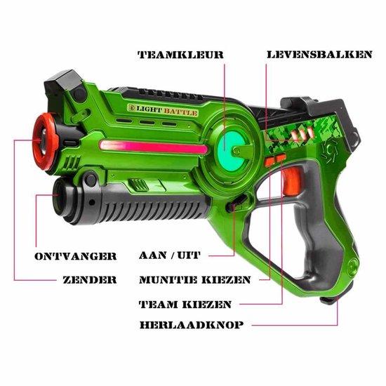 bol.com | 2x Light Battle Active lasergame pistool | Lasergame ...