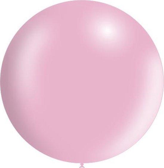 Lichtroze Reuze Ballon XL Metallic 91cm