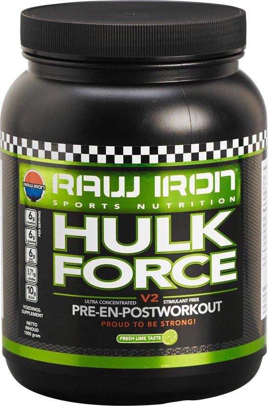 RAW IRON HULK FORCE pre-workout -limoen-