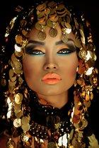 Plexiglas Golden Woman 80 x 120 cm Foto op Plexiglas incl. luxe ophangframe