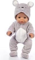 Poppenkleding, geschikt voor Baby Born, Muis Onesie