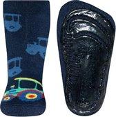 Antislip sokken donkerblauw met tractor-18/19