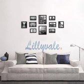 EKEO - Fotowand met 10 Fotolijsten Verschillende Formaten – Wanddecoratie of Staande Functie – Polystyreen/MDF - Zwart