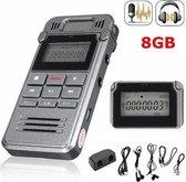 Digitale Dictafoon Voice Recorder - 8 GB - Memo Audio Recorder - Spraak Recorder - Plug&Play - Met Nederlandse Handleiding - Opname Apparaat
