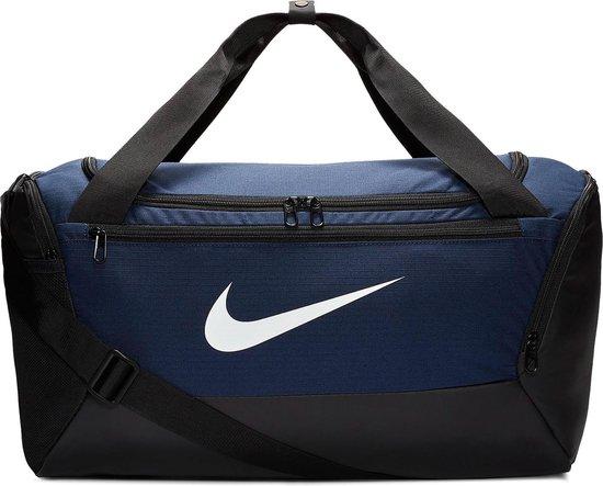 Nike  Brsla S Duff - 9.0 Unisex Sporttas - Midnight Navy/Black/(White)