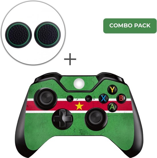 Suriname Combo Pack – Xbox One Controller Skins Stickers + Thumb Grips