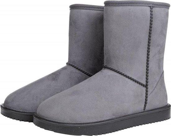 HKM Davos waterproof en bontgevoerde (stal)schoen  grijs maat 37