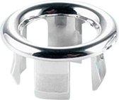 Wasbak Overloop - Overloop Rozet - Afvoerplug - Ring - Badkamer - Chroom - Rond - Zilver - 1 Stuk