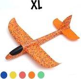 Zweefvliegtuig wegwerp oranje XL | EXTRA GROOT | vliegtuig speelgoed jongens en meisjes | vliegtuig kinderen | foam vliegtuig