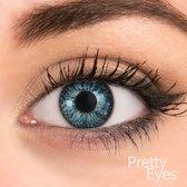 Pretty Eyes Kleurlenzen - blauw - 8 stuks - daglenzen