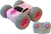 RC Stuntracer Stuntcar roze 1:18