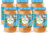 NaturNes® Bio Pastinaak, Doperwtjes, Wortel, Rijst, Zalm 12+ mnd babyvoeding biologisch - 6 potjes