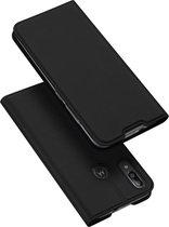 Luxe zwart agenda wallet hoesje Motorola Moto E6s / E6 Plus
