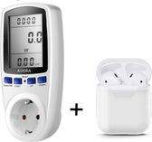 Premium Energiemeter 2.0 - Energie Meter - Verbruiksmeter - Energiekostenmeter - Elektriciteitsmeter - Energieverbruikmeter - Digitale KWH  - Voltagemeter - Verschillende Functies - Stopcontact - Inclusief Extra Case
