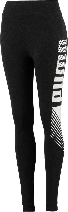 PUMA ESS+ Graphic Leggings Legging Dames - Dark Gray Heather - Maat XL