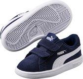 PUMA Smash v2 SD V Inf Kinderen Sneakers - Peacoat-Puma White - Maat 26