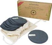 Herbruikbare  Wattenschijfjes van Bamboe [10 STUKS - XL] - Wasbare Wattenschijfjes - Gratis XL Waszak - Bamboe Make Up Pads - Wasbare Gezichtsreinigings pads - Bamboe Afschmink Pads Herbruikbaar - Charcoal - Zero Waste - Wattenschijfjes Herbruikbare