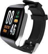 DrPhone  LUXPRO - Smart Horloge Hartslagmeter + Waterdichte Fitness Tracker Bloeddruk Zuurstof Stopwatch - Zilver