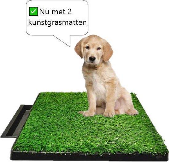 Pet Potty - Hondentoilet met 2 kunstgrasmatten - Inclusief gratis e-book - Pet park deluxe - Indoor & outdoor hondentoilet