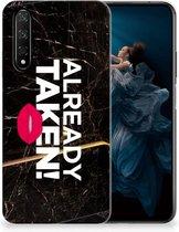 Honor 20 | Huawei Nova 5T Siliconen hoesje met naam Already Taken Black