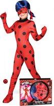 VIVING COSTUMES / JUINSA - Ladybug Miraculous kostuum voor kinderen - 152 - 158 (12 - 14 jaar) - Kinderkostuums
