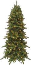 Triumph Tree Benton kunstkerstboom met led 176 warmwitte lampjes maat in cm: 185 x 104 groen - GROEN