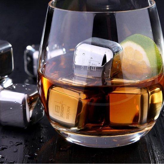 Let op type!! RVS herbruikbare ijsblokjes koelen voor wodka  whisky  likeuren