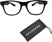 Nerdbril zwart zonder sterkte - Wayfarer model