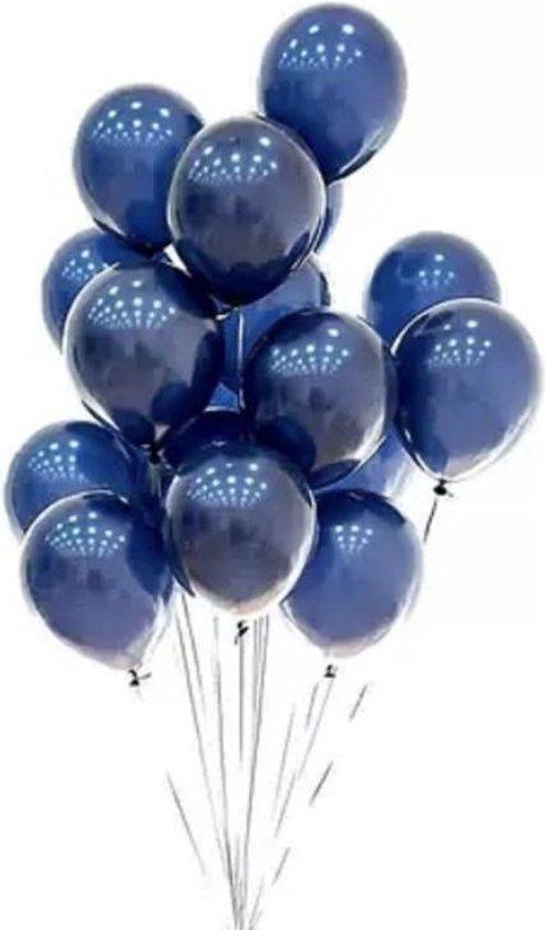 Donkerblauwe Ballonnen - DH collection | Effen | 10 stuks | Baby Shower - Kraamfeest - Verjaardag - Geboorte - Fotoshoot - Wedding - Marriage - Birthday - Party - Feest - Huwelijk - Jubileum - Event |