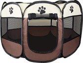 Rexa® Puppyren | Opvouwbare puppytent hondenren dierenloopstal | Geschikt voor alle kleine dieren | Voor oa de hond of kat | incl. Draagtas