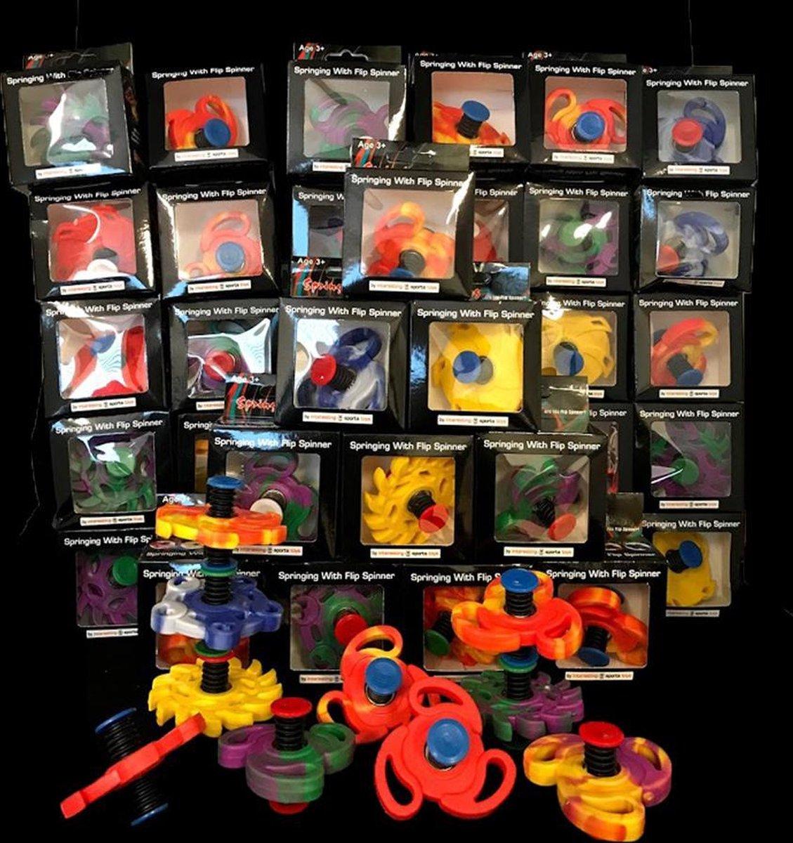 Flip spinner, bouncing spinner, jumping spinner, springing spinner, sinterklaas cadeau - 30 stuks