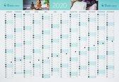 A1 jaarplanner, wandplanner, jaarkalender 2020