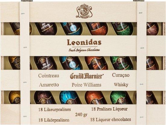 Chocoladecadeau - Leonidas Likeurpralines - 1 x 18 pralines - 240 gram