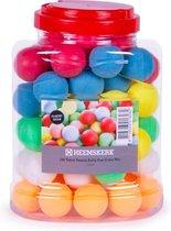 Heemskerk Fun Plastic Tafeltennisballen per 60 stuks - Kleuren Mix