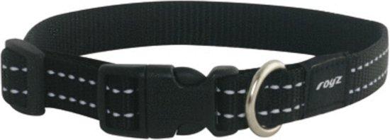 Rogz For Dogs Snake Halsband - Zwart - 16mm x 26-40cm