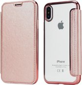 Flip Case voor Apple iPhone X - iPhone XS - Roze - Hoogwaardig PU leer - Soft TPU - Folio
