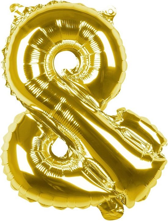 Boland Folieballon Leesteken & 36 Cm Goud